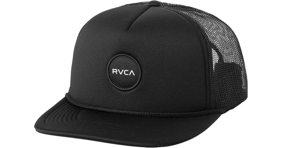 d9bc9f8aa88 ... discount code for lyst rvca pm selector trucker hat in black for men  047a6 7fb02