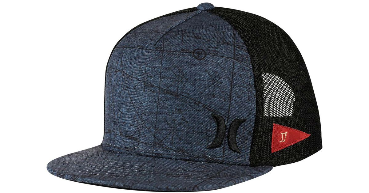 new product 68bc1 7519d ... canada lyst hurley jjf maps trucker hat in black for men 98618 d2c51