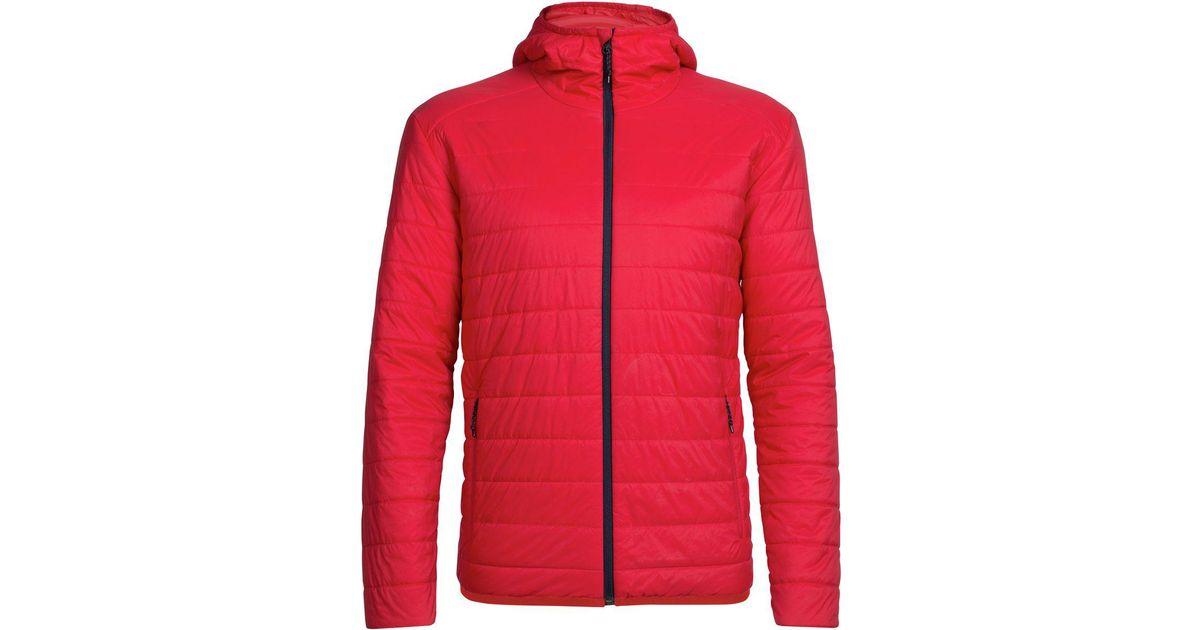 52c46b0c79 Icebreaker Hyperia Hooded Jacket in Red for Men - Lyst