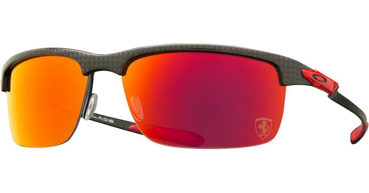 535e727df8 Lyst - Oakley Limited Edition Ferrari Carbon Blade Polarized Sunglasses in  Red for Men