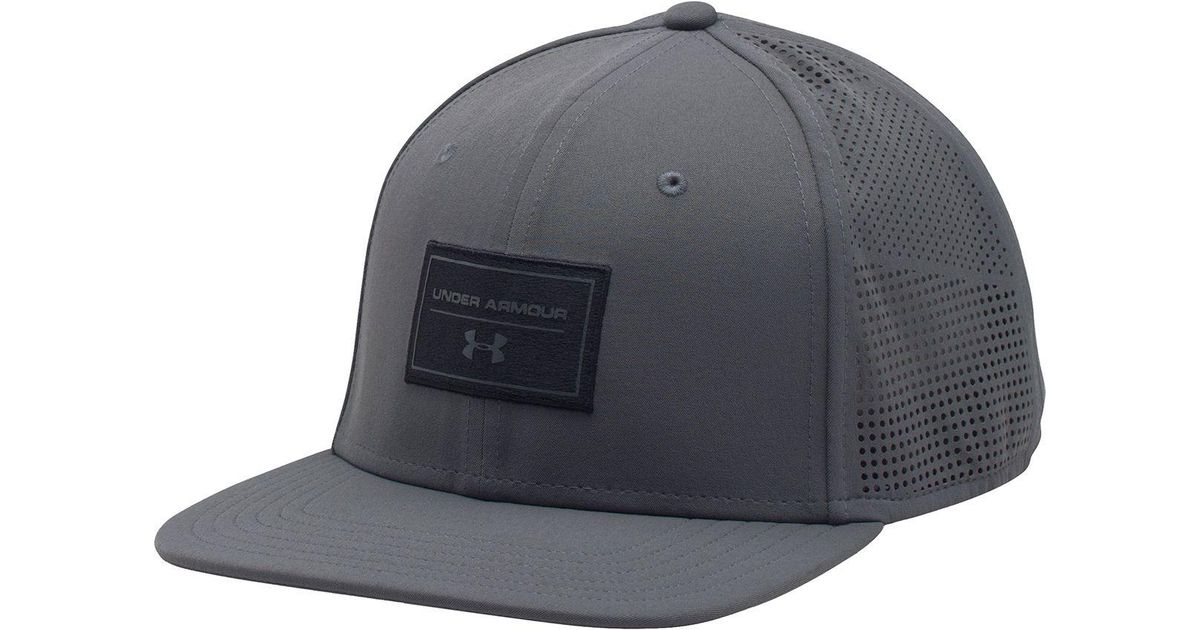 bec566d054f ... best price lyst under armour supervent flat brim snapback hat in black  for men e67f6 dc52d ...