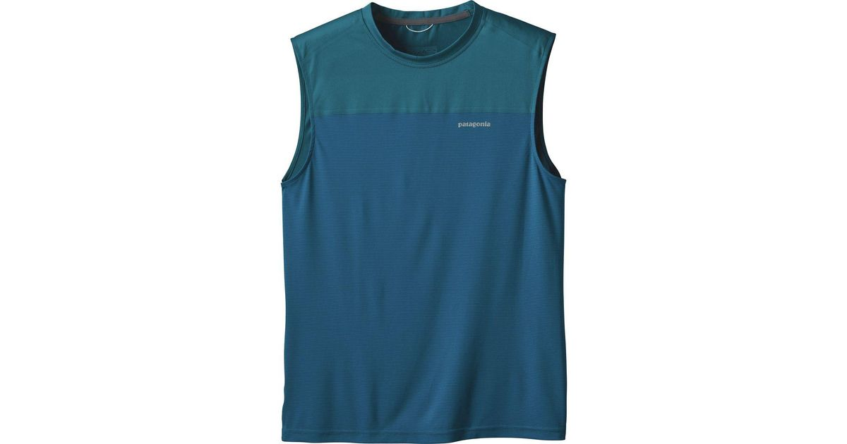 a55df0eed17545 Lyst - Patagonia Windchaser Sleeveless Top in Blue for Men