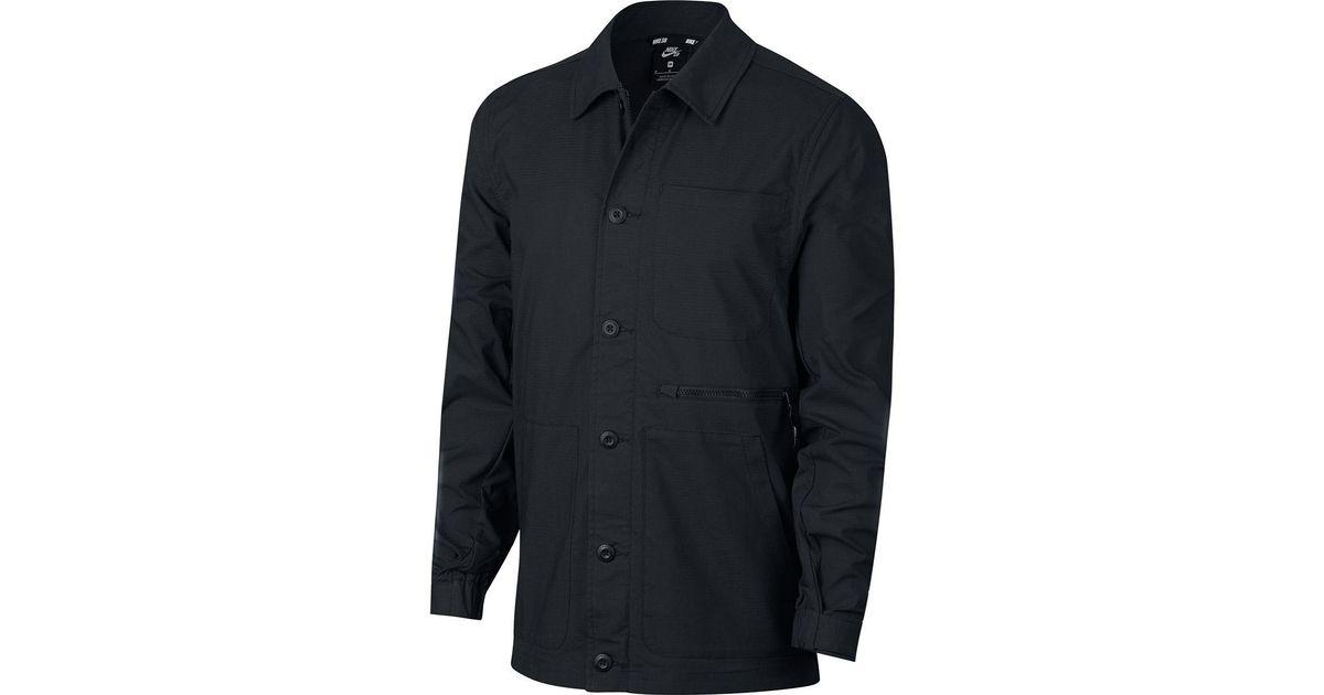 f8ccfbda46 Lyst - Nike Sb Flex Coaches Chore Jacket in Black for Men