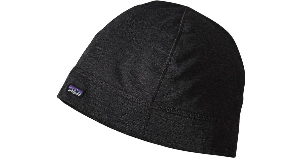 Lyst - Patagonia Capilene Thermal Weight Scull Cap in Black for Men 90fe0fe97e6a