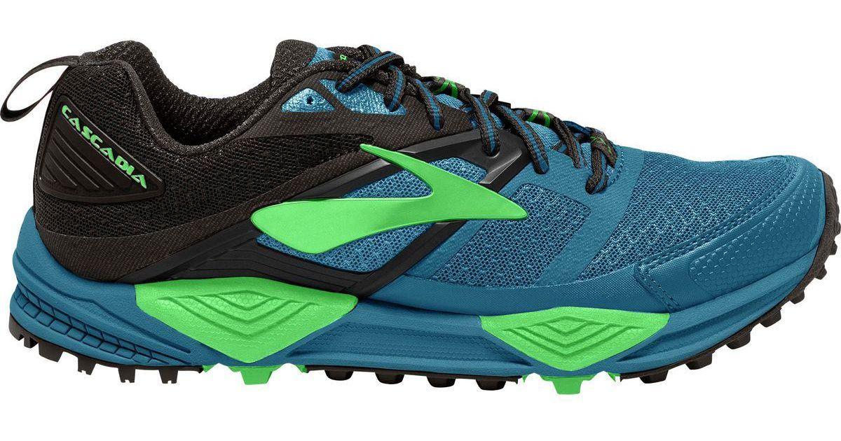 8422e53f512 Lyst - Brooks Cascadia 12 Trail Running Shoe in Green for Men