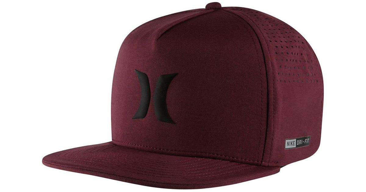 Lyst - Hurley Dri-fit Icon Snapback Hat in Purple for Men 6b29f090e9d