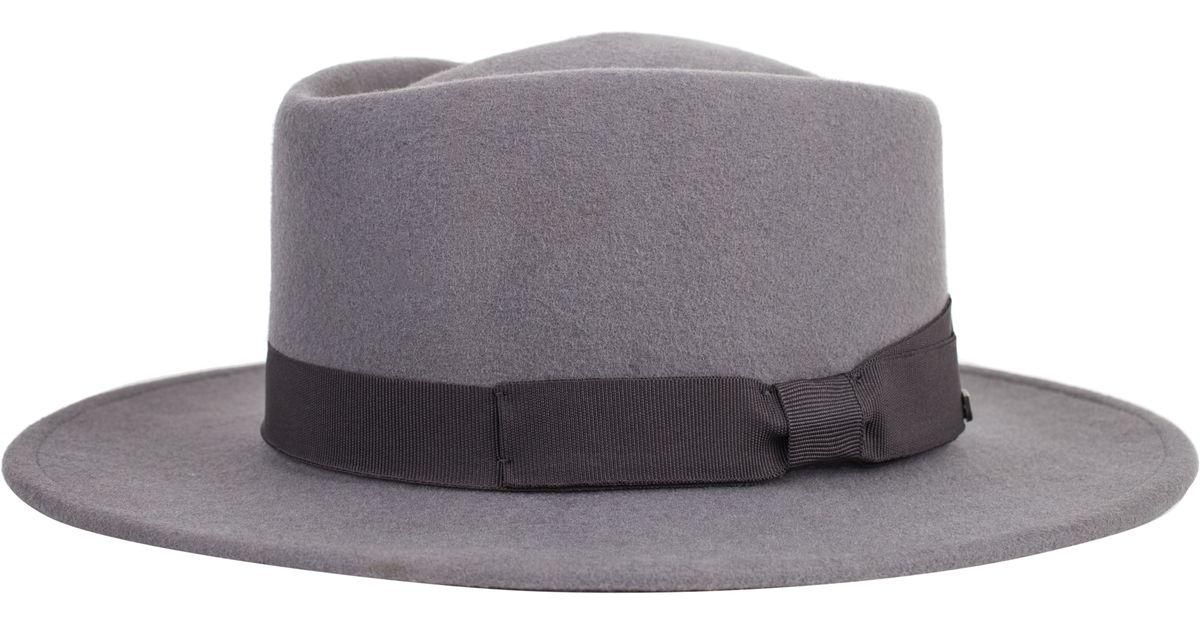 47cf2d21eb2cf Lyst - Brixton Alex Hat in Gray