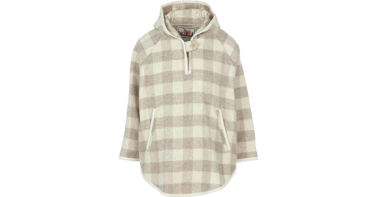 11387c272 Woolrich - White Mill Wool Popover Jacket - Lyst