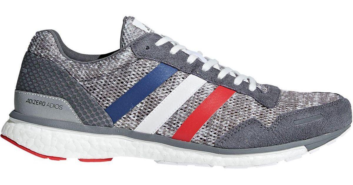 quality design 5b593 8876f ... usa lyst adidas adizero adios 3 boost running shoe in gray for men  b6a3c a0125