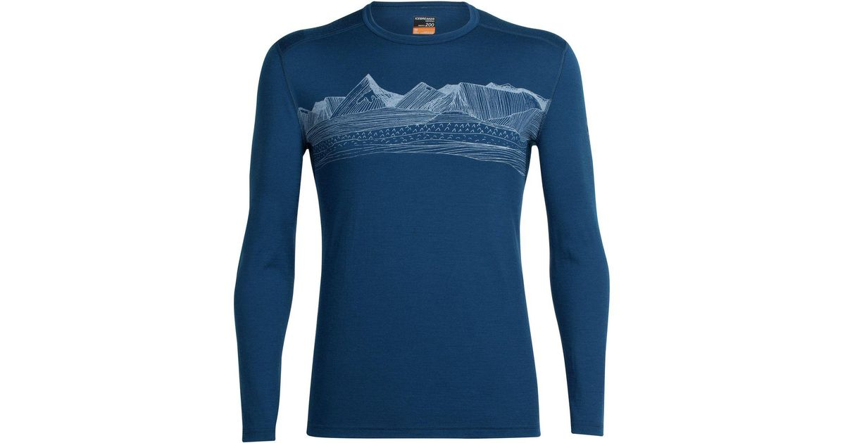 277197fe87 Icebreaker Oasis Long-sleeve Crewe Pyrenees Shirt in Blue for Men - Lyst