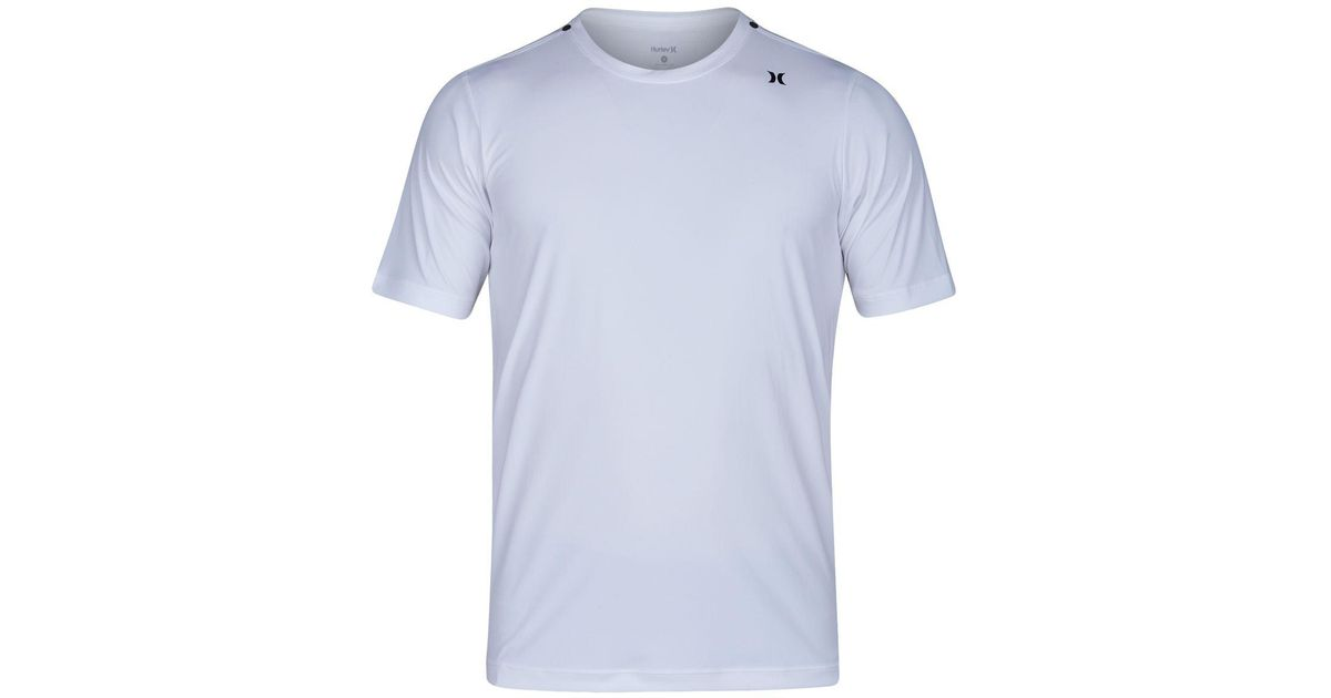 Lyst - Hurley Quick Dry Icon Surf T-shirt in White for Men b18cdef791b