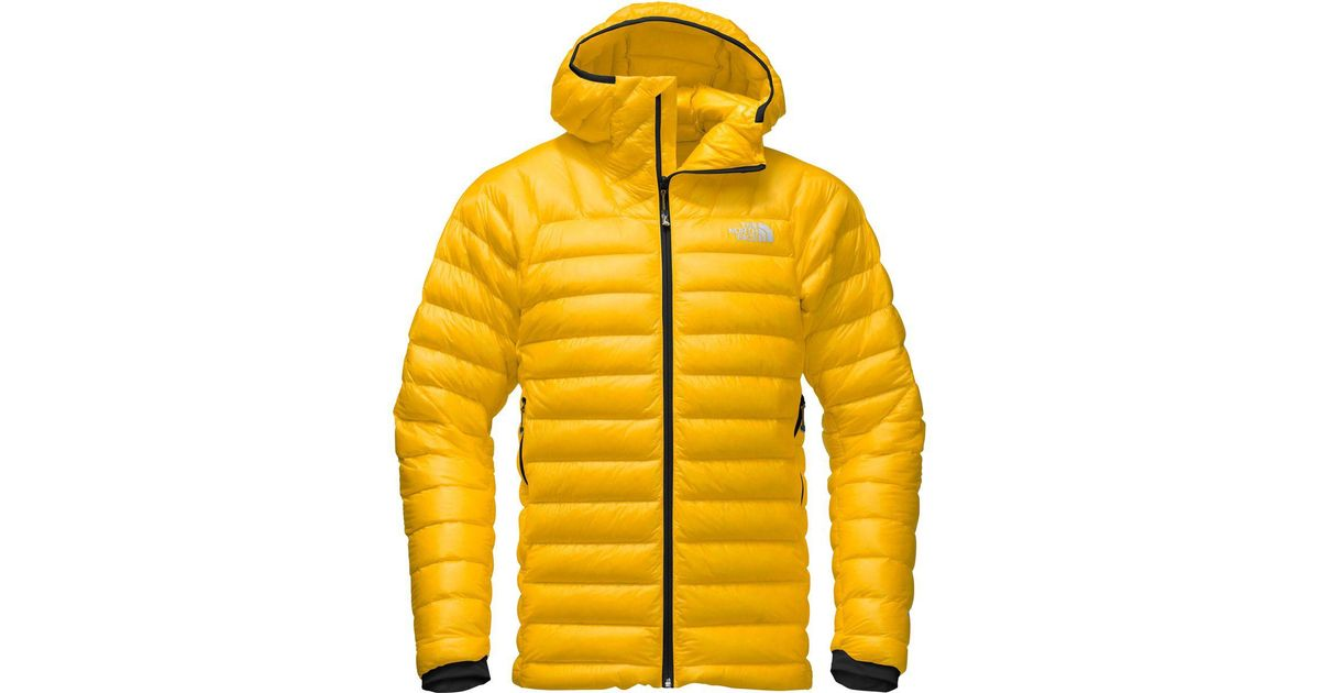 438d32ad40e7 Lyst - The North Face Summit L3 Hooded Down Jacket in Yellow for Men