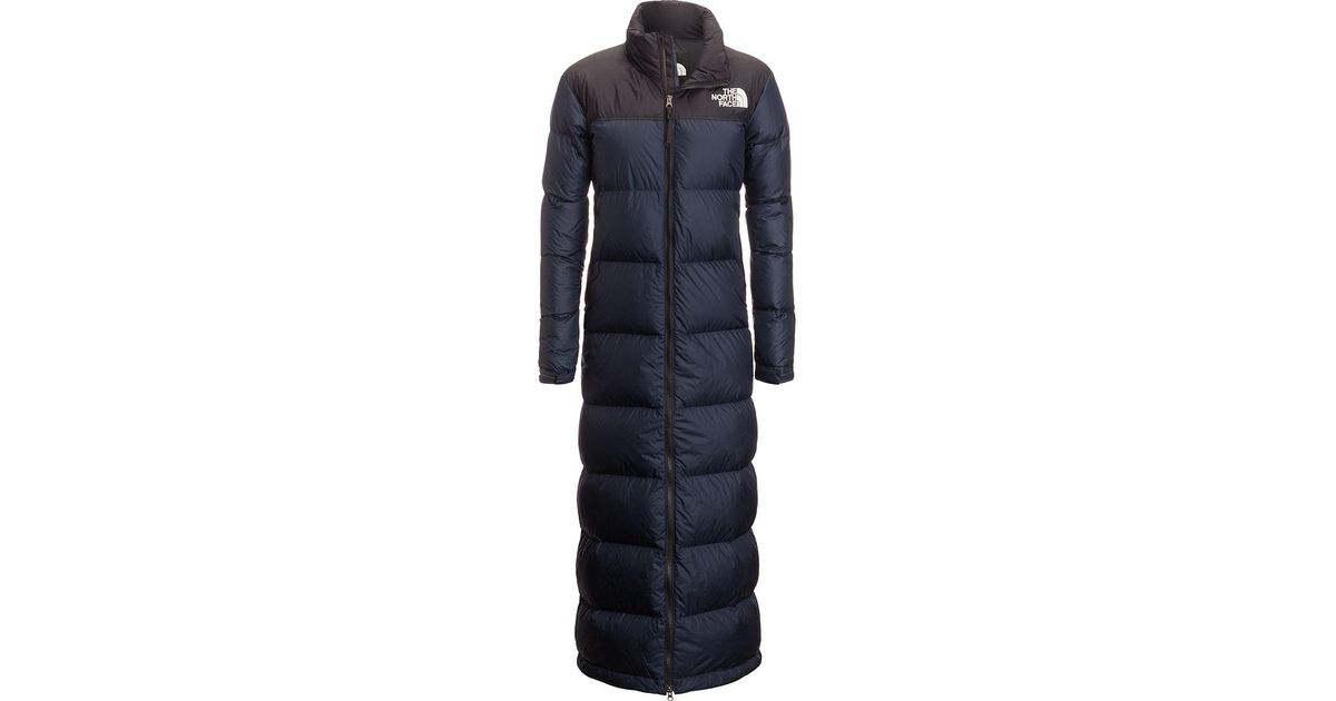 22892e629 The North Face Nuptse Duster Down Jacket in Blue - Lyst