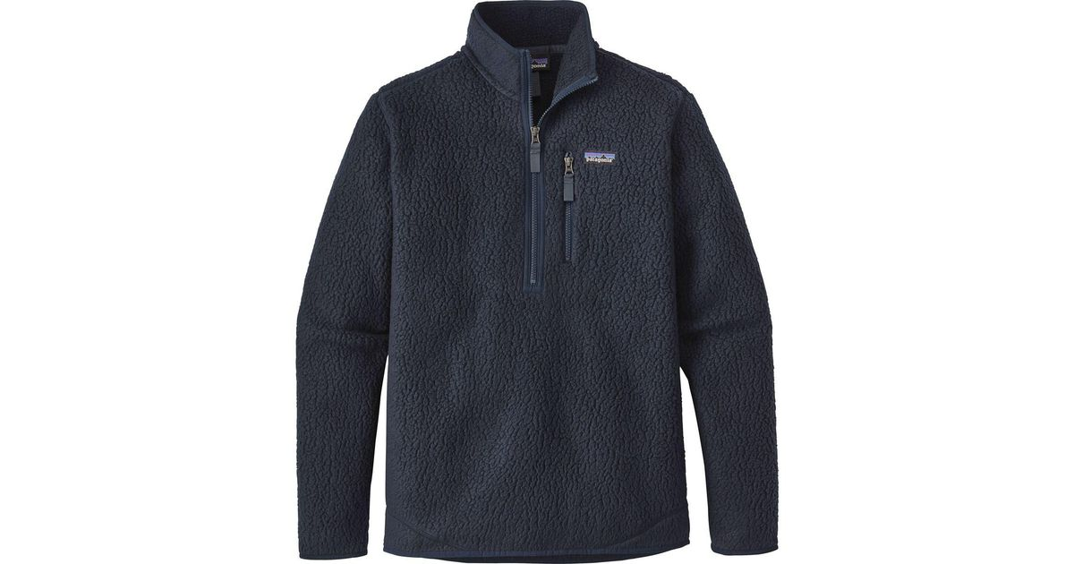Patagonia Retro Pile Pullover Jacket in Blue for Men | Lyst