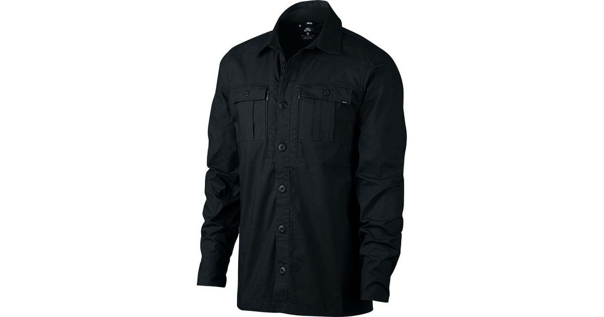0a32fb3efc196 Lyst - Nike Sb Flex Top Holgate Long-sleeve Shirt in Black for Men