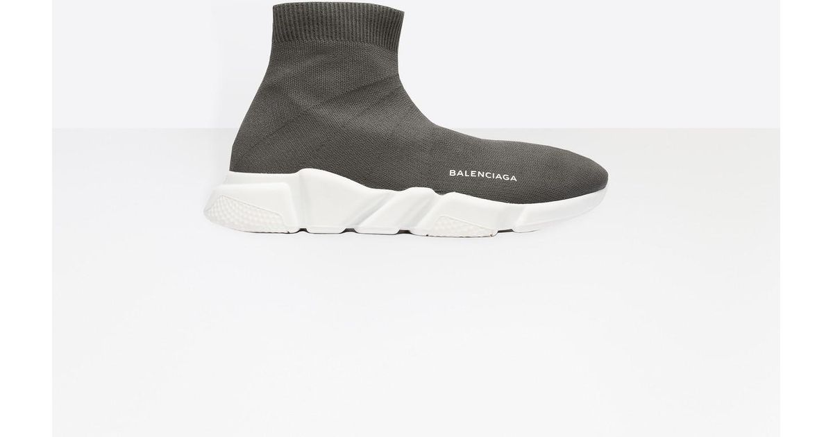 d33922f69f31 Lyst - Balenciaga Knitted Sneakers in Gray for Men