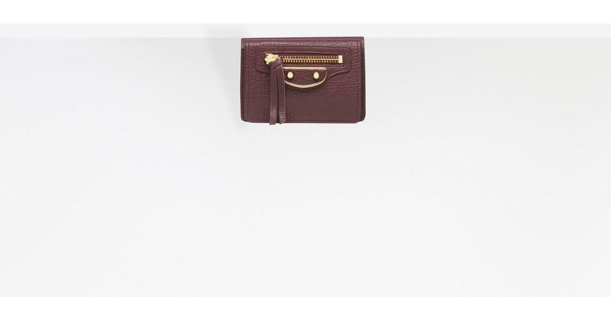 e5138d621ab Balenciaga Classic Metallic Edge Mini Wallet - Lyst