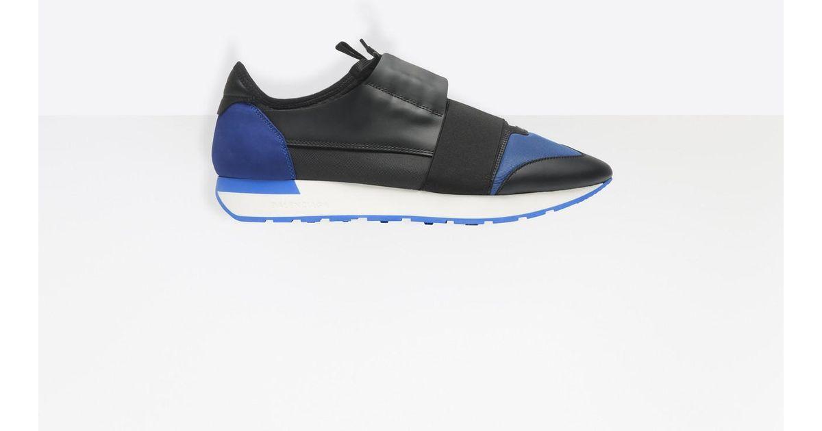 Runners En Race Pour Coloris Blue Balenciaga Homme RqS3c4jLA5