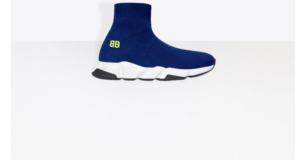 cd6689a628951 Lyst - Balenciaga Kids - Speed Trainers in Blue for Men