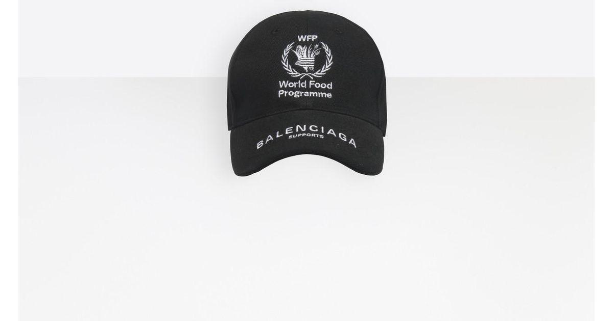 f5e9c576 Balenciaga World Food Programme Cap in Black for Men - Save 16% - Lyst