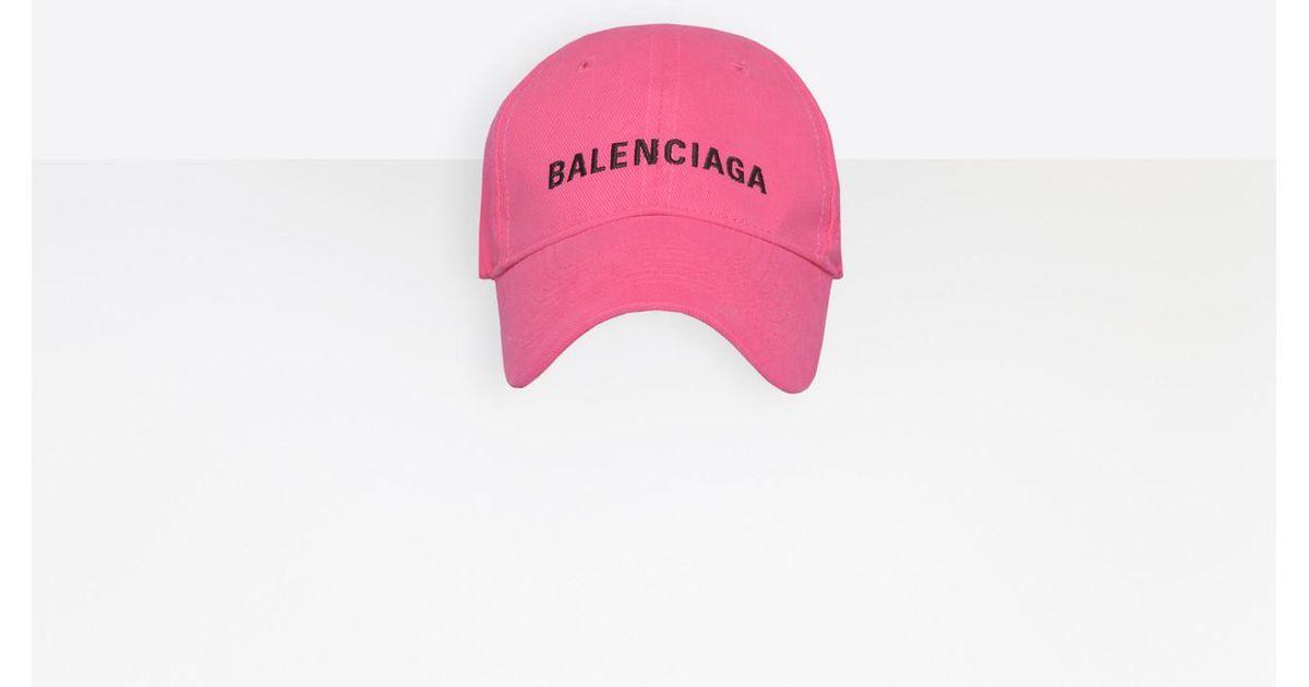 1f65438a Balenciaga Cap in Pink - Lyst