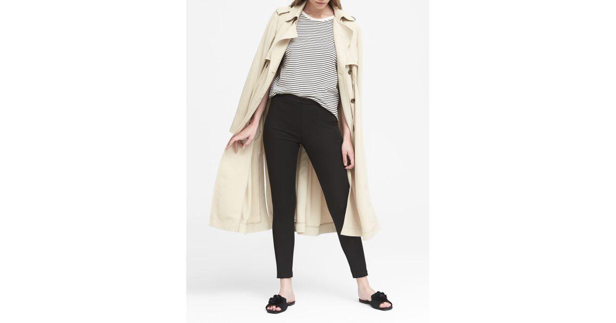 c309c04c0c67a Lyst - Banana Republic Devon Legging-Fit Washable Bi-stretch Ankle Pant in  Black