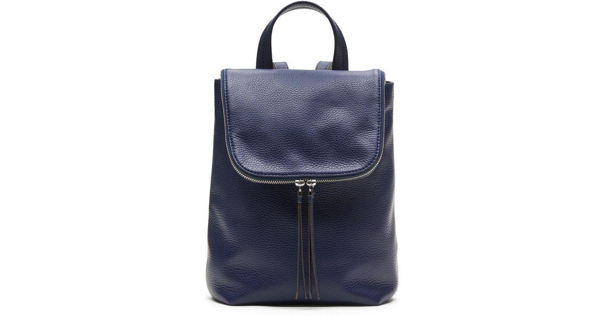 Backpack 8848 Bana: Banana Republic Italian Leather Mini Backpack In Blue