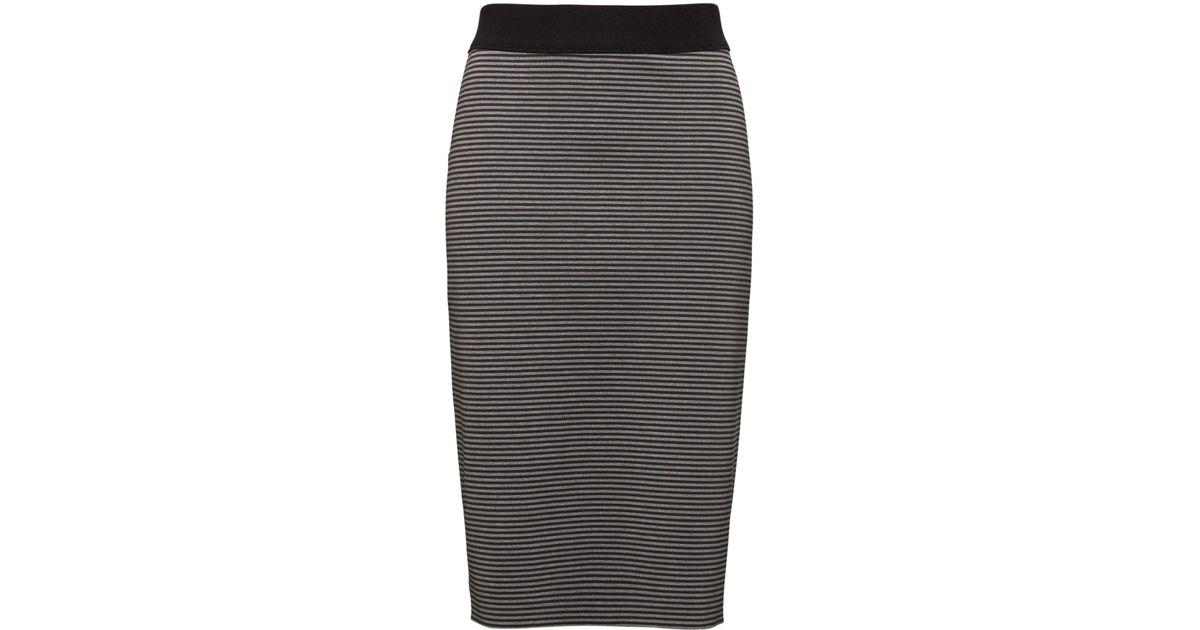 aa484d801 Lyst - Banana Republic Life In Motion Reversible Neoprene Pencil Skirt in  Gray