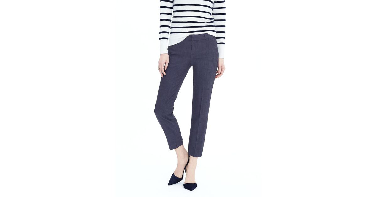 afd67f1d9ce77 Lyst - Banana Republic Petite Avery Straight-fit Lightweight Wool Ankle Pant  in Blue