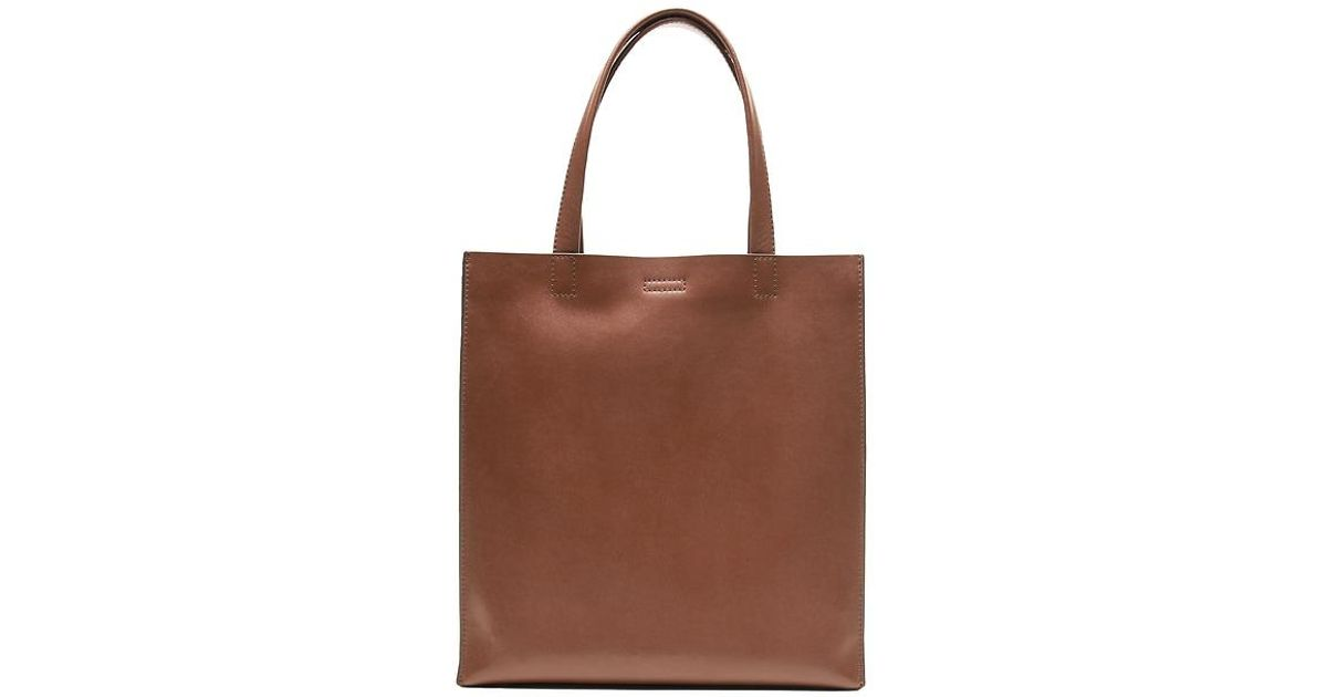 f69e75f3b8d6 Lyst - Banana Republic Portfolio Structured Leather Tall Tote in Brown