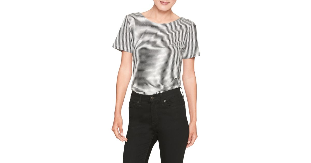 a1eae03ab706f3 Lyst - Banana Republic Factory Stripe Bow Back Designer T Shirt