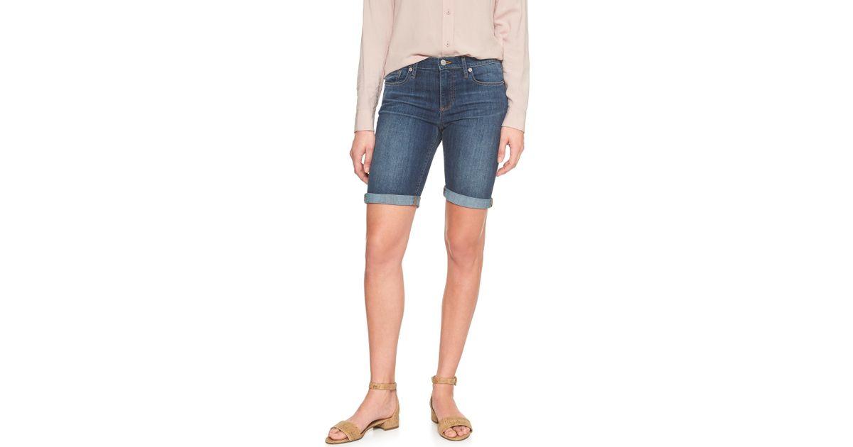 9662623ce8 Lyst - Banana Republic Factory Denim Bermuda Shorts - 10 Inch Inseam in  Blue - Save 13%