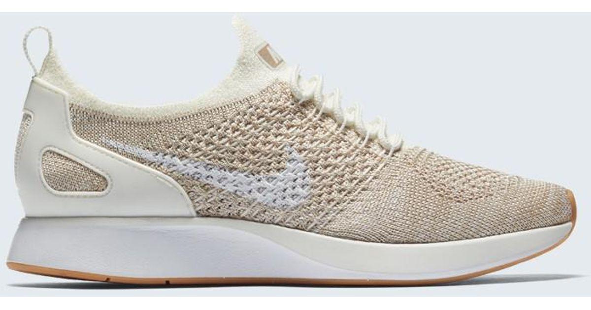 Nike Sportswear AIR ZOOM MARIAH FK RACER - Trainers - sail/white/sand/yellow 9fEM24Tgz