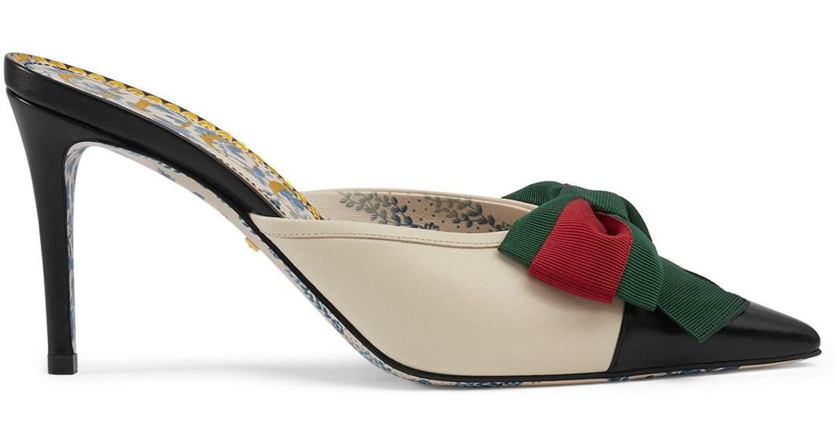 6adca46627c Lyst - Gucci Leather Mules in White
