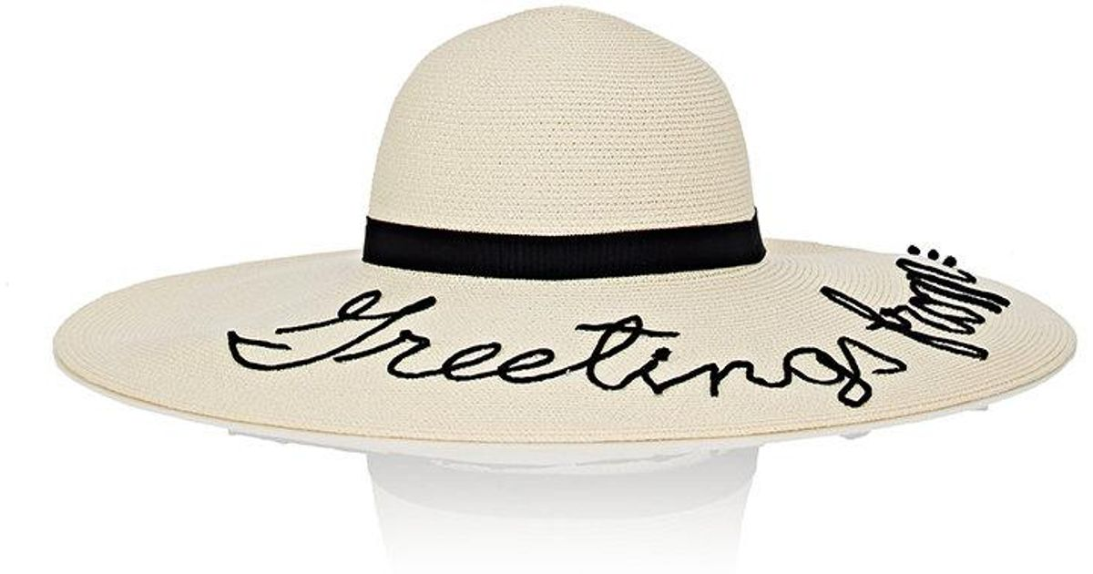 Forever Ever Embroidered Woven Paper Sunhat - Ivory Eugenia Kim U2aVZ