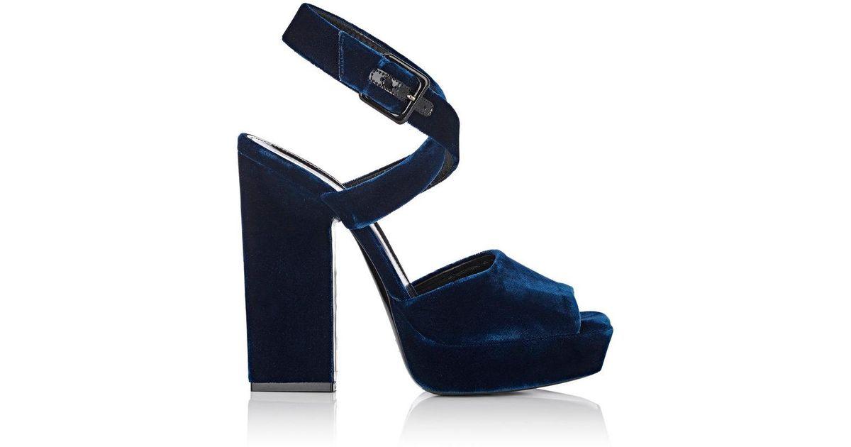 Saint Laurent Debbie 105 velvet sandals 1PdNNHpKln