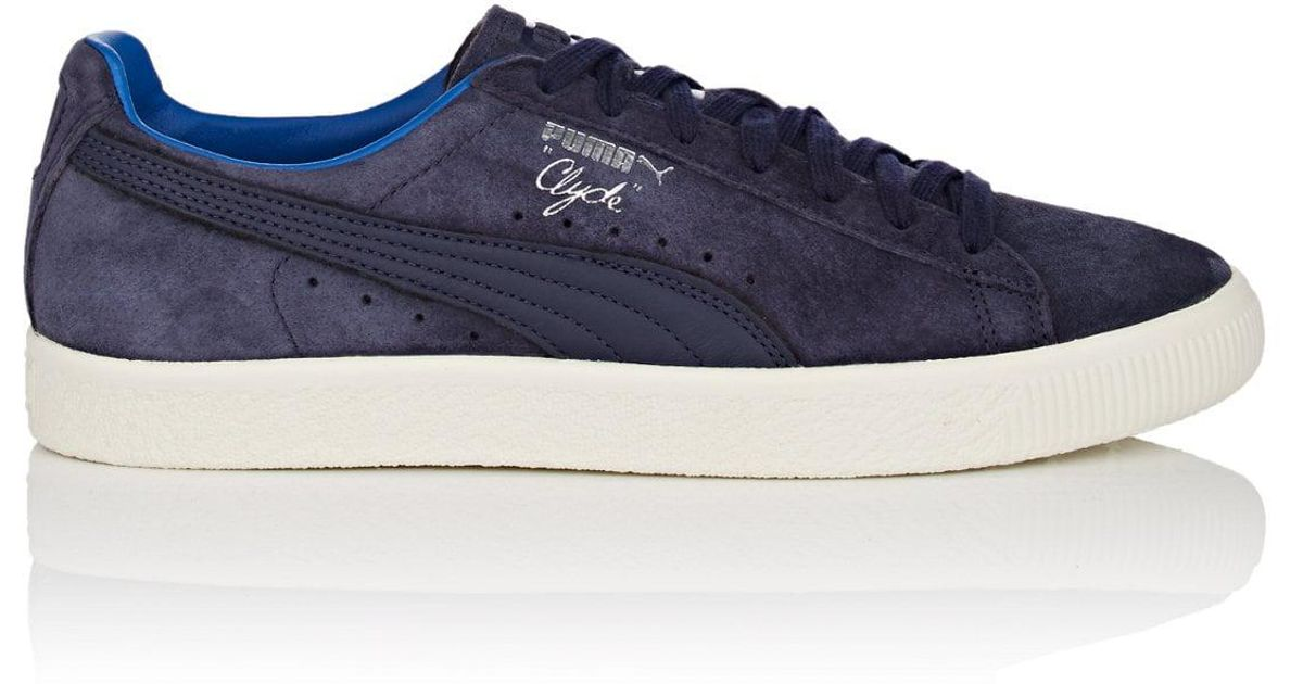 879ab54302c Lyst - PUMA Clyde Normcore Suede Sneakers in Blue for Men
