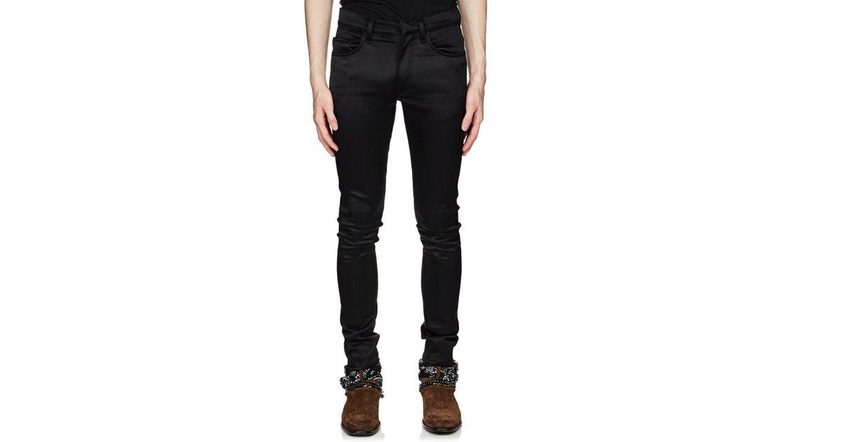 55b03909d9c0 Amiri Bonded Satin Skinny Pants in Black for Men - Lyst