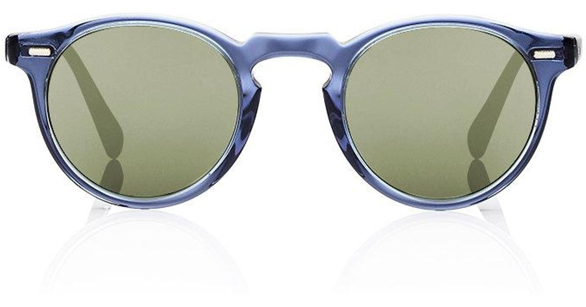 29c5fb2e1b Oliver Peoples Gregory Peck 47 Sunglasses in Black for Men - Lyst