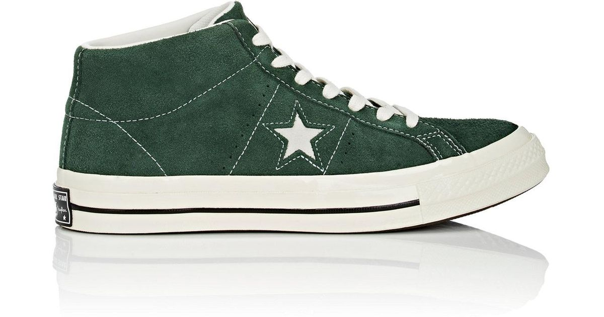 a644670dfef9 Lyst - Converse one Star  74 Vintage Suede Sneakers in Green for Men