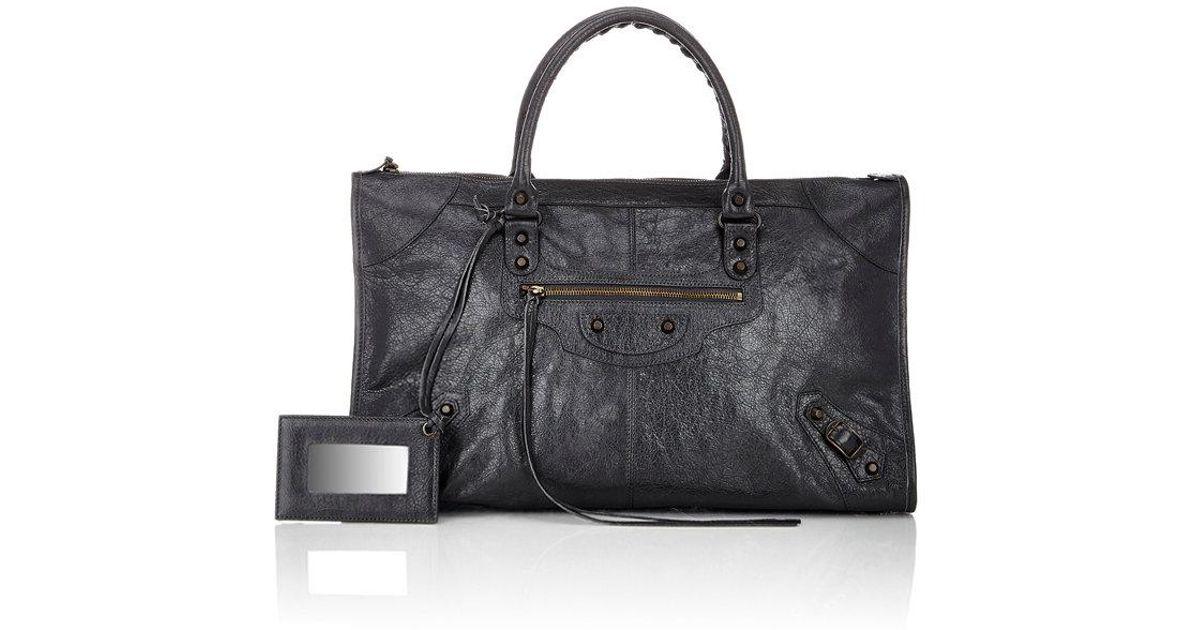 ff3d1fac43cf Lyst - Balenciaga Arena Leather Classic Work Bag in Gray