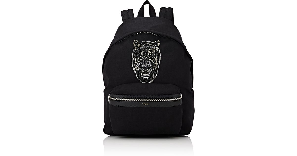 a778ce8d4c Lyst - Saint Laurent Embellished Classic Backpack in Black for Men