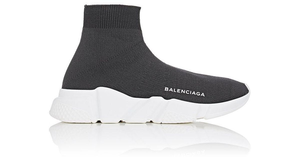 Lyst - Balenciaga Speed Knit Sneakers in Gray for Men 9a0f07d5ac
