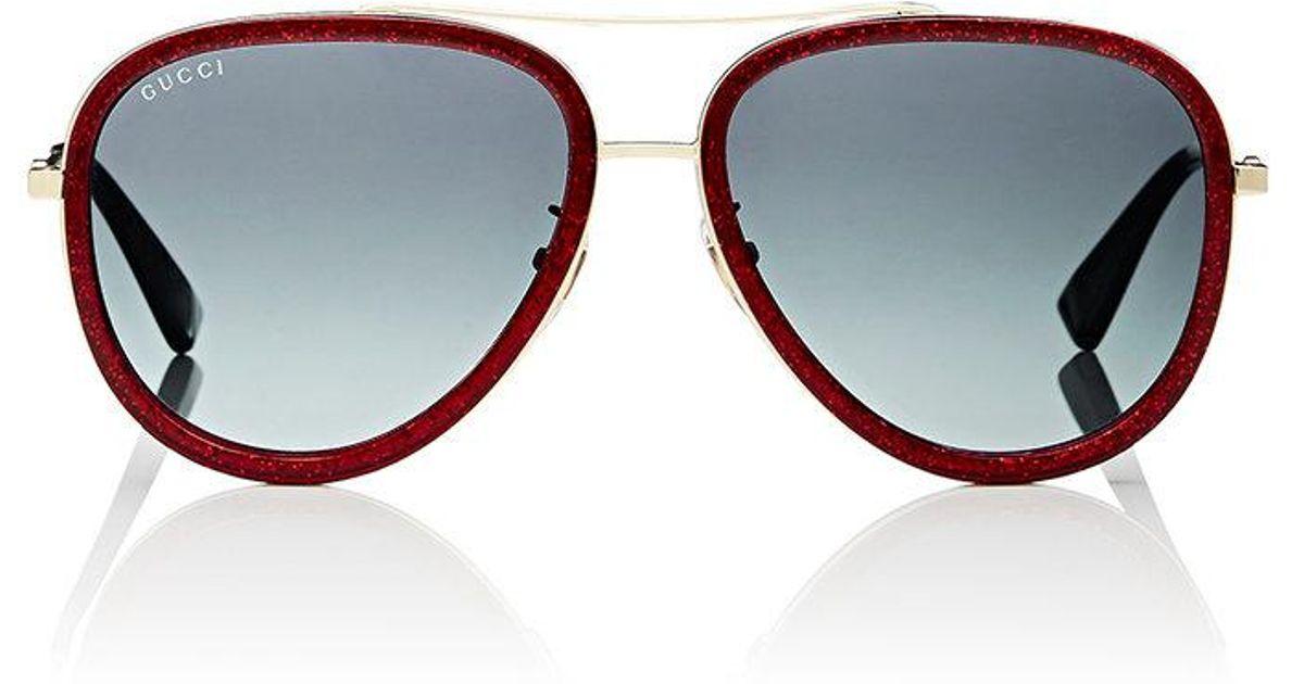 089c65045b2 Gucci 0062s Sunglasses in Red - Lyst
