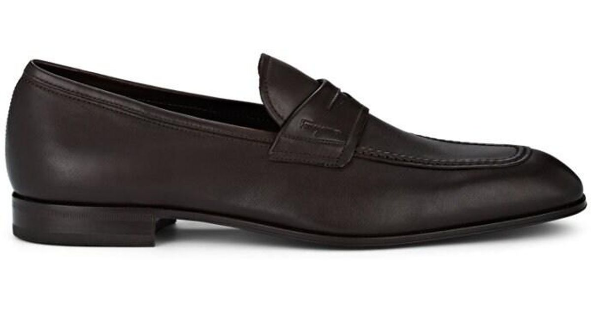 bc8ed81c4a205 Ferragamo Alred Leather Penny Loafers in Brown for Men - Lyst