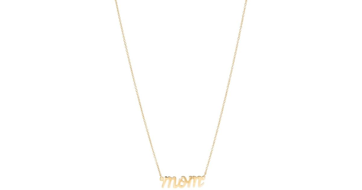 6e10b901c7e03 Bianca Pratt Metallic mom Nameplate Necklace