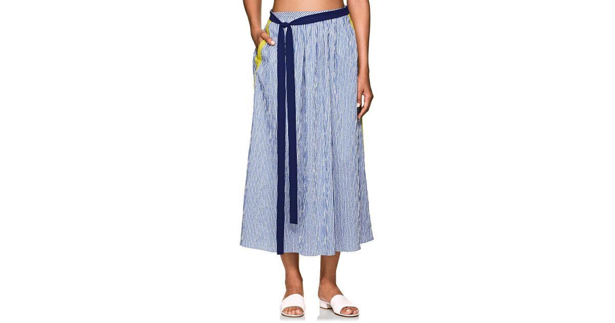 asta bandera Swim mujer de Striped Falda para Frida Seersucker S7CfCP