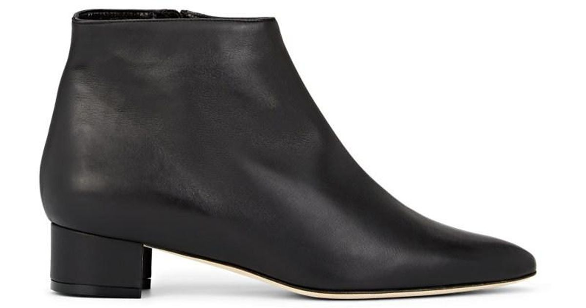 1b950ac29615f Lyst - Manolo Blahnik Crik Leather Ankle Boots in Black