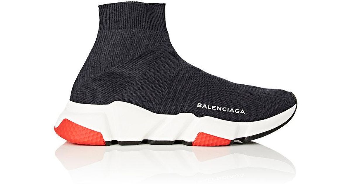 Lyst - Balenciaga Speed Logo-print Stretch-knit High-top Sneakers in Black  - Save 17% e7c71d22e