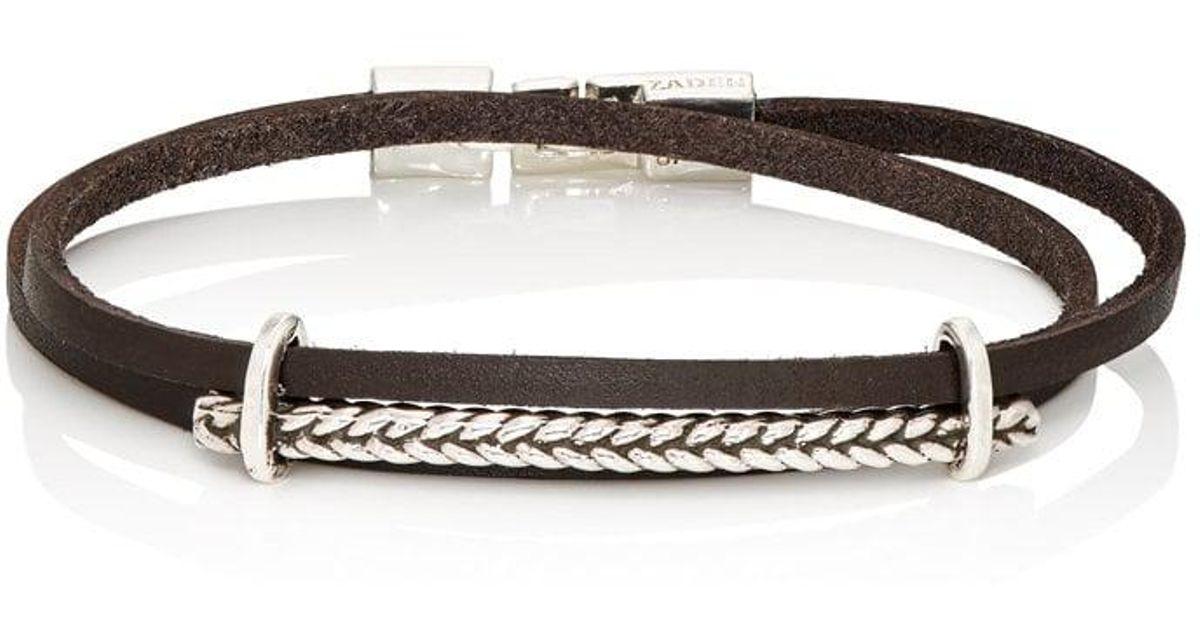 Zadeh Mens Eitan Wrap Bracelet lP48I4G